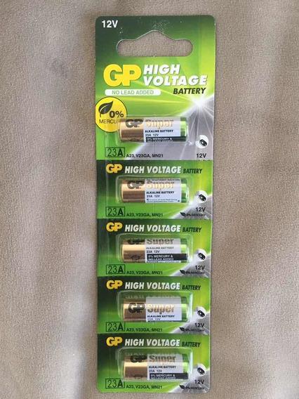 5 Pilhas 23a 12v Gp Para Controle E Alarme