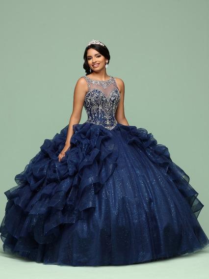 Vestido Xv Años Azul Excelente Diseño