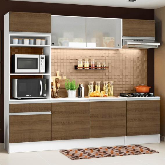 Cozinha Completa Madesa Topazio Com Armário, Balcão E Tampo