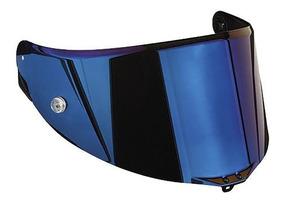 Viseira Agv Race 2 Iridium Azul Pista Gp Corsa Gt Veloce