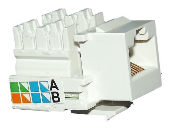 Pacote Com 10 Keystone Conector Femea Rj45 Cate 5e Amp