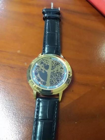 Reloj Led Hombre Touch Negro Con Dorado