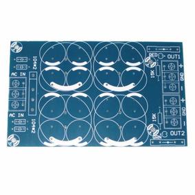 Placa Lisa Fonte Simétrica Dupla Para Amplificador