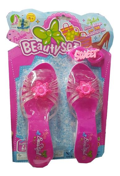 Zapatitos Taquitos Para Nenas De Juguete 18cm