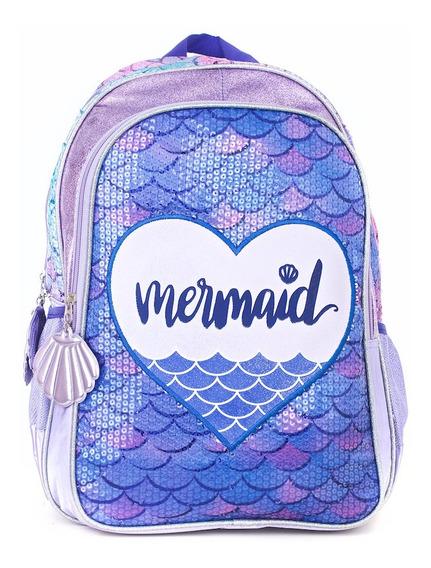 Mochila Kooshi Lentejuelas Mermaid Violeta Espalda 17