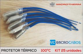 Protetor Térmico Cabo 200mm - 100º C - Kit 25 Unidades
