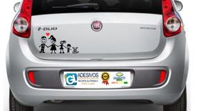 Adesivo Família Feliz Decorativa Para Carro Motos Pai Mãe