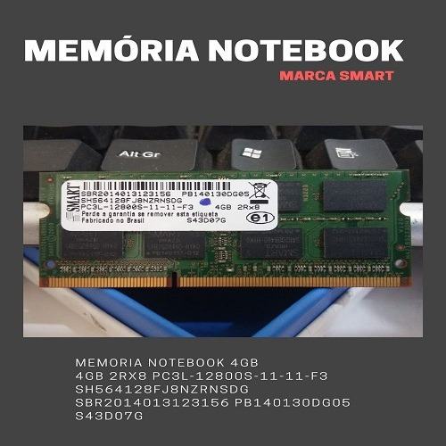 Memória Notebook 4gb Ddr3