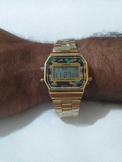 Relógio Casio Dourado Unissex Promoção Aprova D