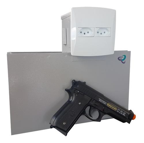 Imagem 1 de 10 de Cofre Para Armas Edição De Luxo. Cofre Tomada Invisível