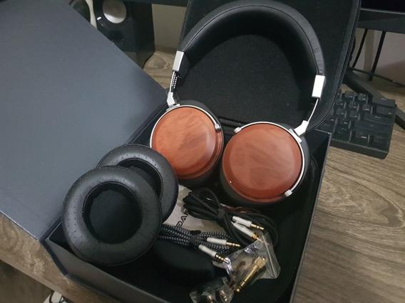 Headphone Sivga Sv002 + Earpads Extra Madeira Closed Back