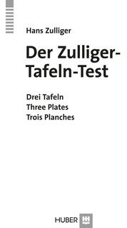 Test De Zulliger. 3 Láminas. Original Y Nuevo.