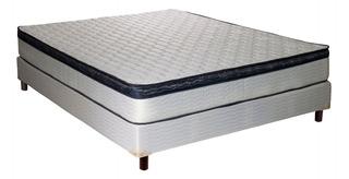 Sommier Y Colchon 2 Plazas 140x190x26 Inducol Alanis Resorte Con Pillow Sommiercenter