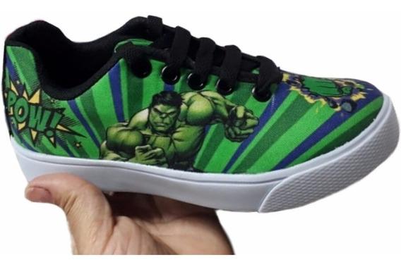 Tênis Masculino Hulk Incrivel Hulk Infantil Promoção Menino