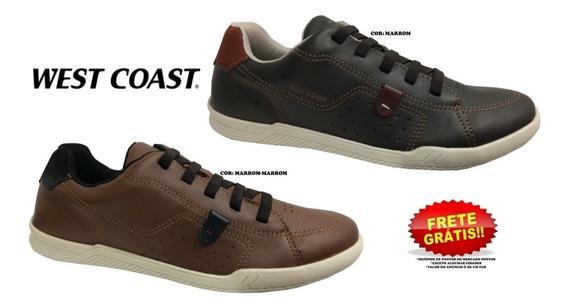 Sapatênis West Coast Sapato 184601cp Masculino + Cores