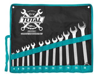 Juego De 12 Llaves Total - Milimetricas Combinadas/ 6-24mm