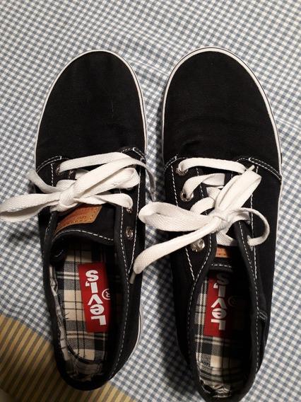 Zapatillas Levis Negras Us10.5 /eur 44.5 /uk10