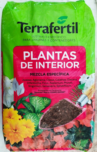 Terrafertil Sustrato Plantas De Interior 10 Lts