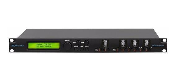 Processador Digital De Audio Oneal Odp260 Preto Profissional