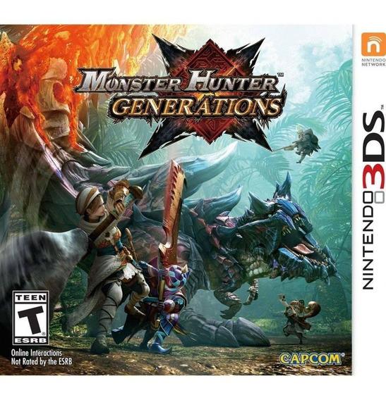 Monster Hunter Generations 3ds Midia Fisica Lacrado Novo