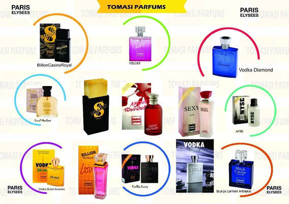 Kit Com 10 Perfumes Paris Elysees 100ml Originais E Lacrados