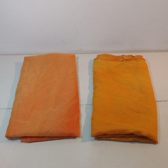 Lote De 2 Telas Voile Naranjas 4, 80 M Entre Ambas