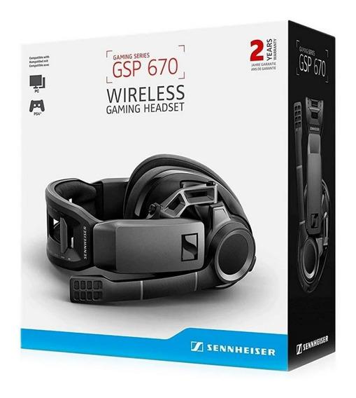 Headset Gamer Sennheiser Gsp 670 Wireless, 7.1 Som Surround