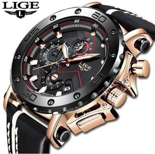 Relógio Masculino Esportivo Original Pulseira De Couro Luxo