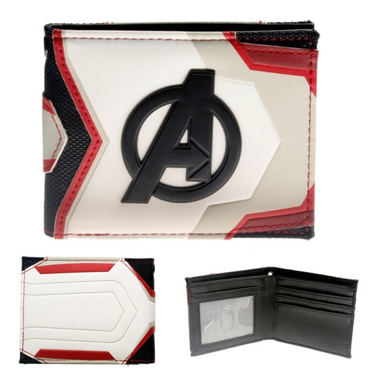 Cartera Avengers Original Logo Endgame Traje Marvel Comics