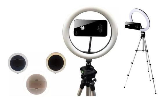 Promoção Ring Light Para Celular Selfie Led Bivolt Tripé Iluminação Para Videos Youtube Maquiagem Profissional