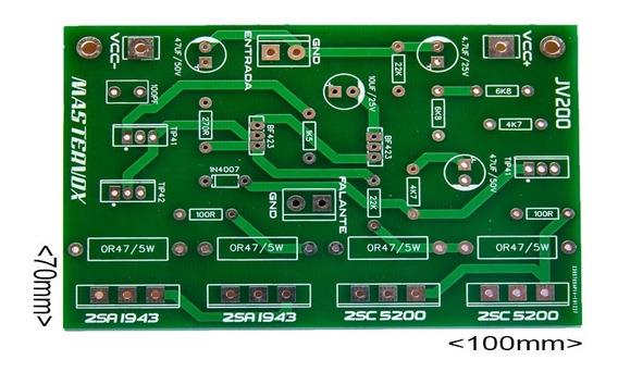 10 Placa Para Montar Amplificador 200w Rms Com C5200 E A1943