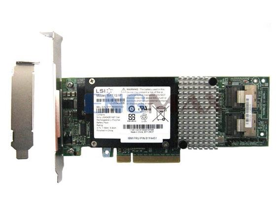 Placa Controladora 6gb/s Lsi Megaraid Sas 9261-8i + Bateria + Cabo Sata Sas