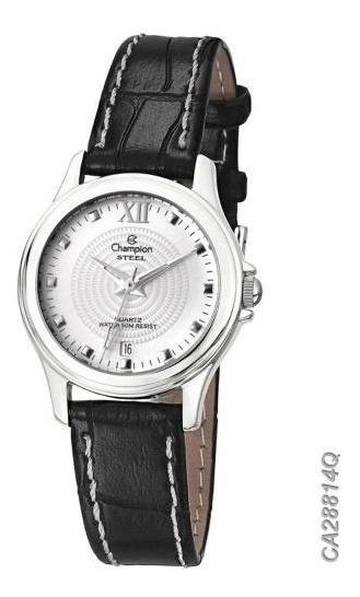 Relógio Champion Pulseira De Couro Clássico Ca28814q