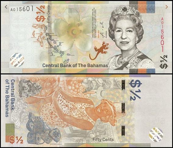 Bahamas P-new Fe 1/2 Dollar 2019 * C O L *