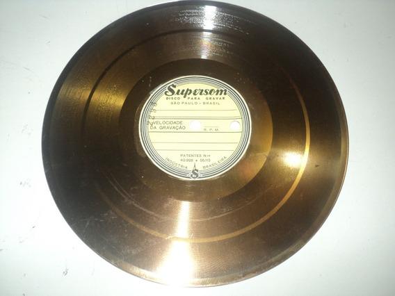 Disco De Vinil-supersom-anos 50-disco Virgem Para Decoração