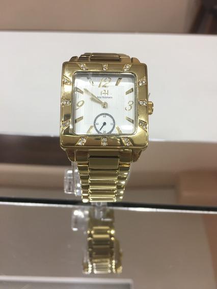 Relógio De Pulso Ana Hickmann Ah284517 Dourado Feminino