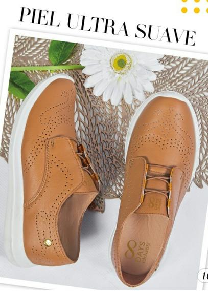Zapatos Tipo Oxford Corte De Piel