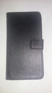 Capa De Couro Com Porta Cartões Para Celular