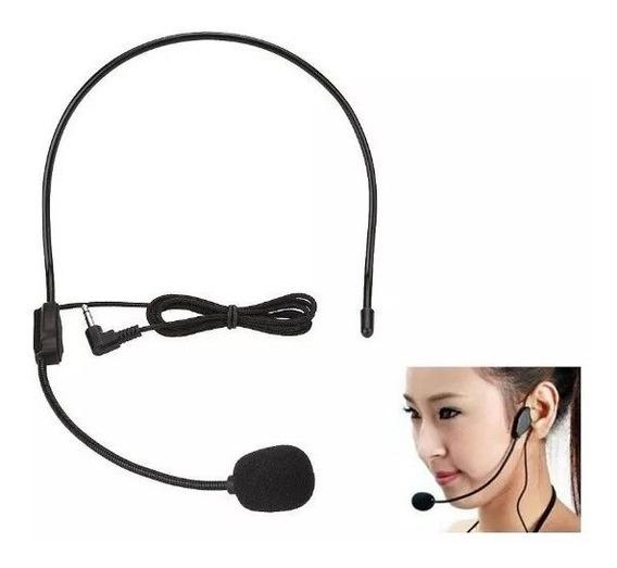 Microfone Auricular Mono De Cabeça P2 Mono Apenas Microfone
