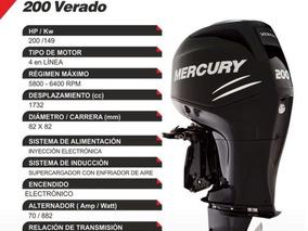 Mercury Verado 200 Hp L