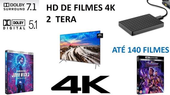 Filmes Em 4k - Hd Externo 2 Tera