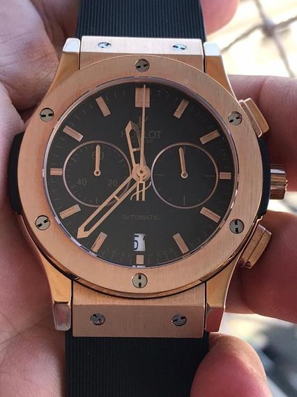 Relógio Masculino Hublo Classic Fusion Rosé Fundo Preto