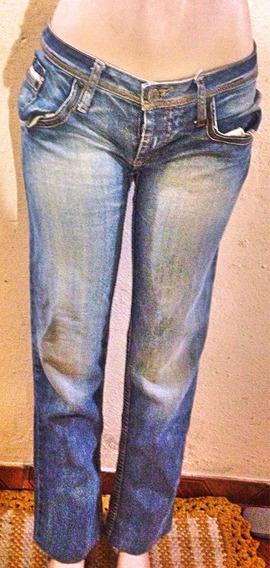 Calça Jeans Colcci Bordada 40 Linda