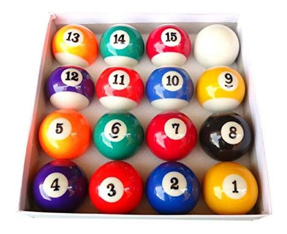 Set Bolas De Pool Billar Juego Completo 16 Bolas 2,25in