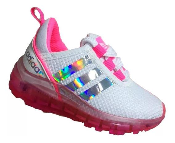 Zapatos Deportivos Para Niñas Con Luces Moda Colombiana