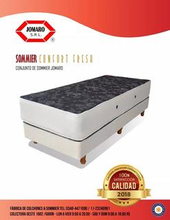 Conjunto Confort Fresh Resorte 100x190x28cm