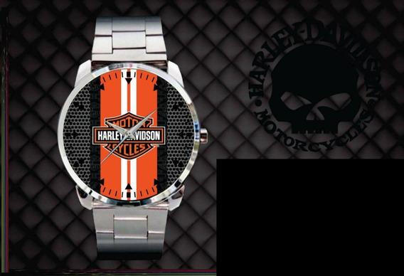 Relógio De Pulso Personalizado Moto Harley Davidson Fat Boy