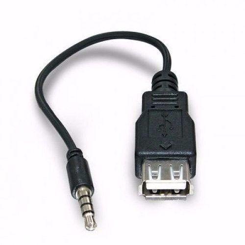 Cabo Adaptador Plug P2 X Usb Femea Som Carro - 3598