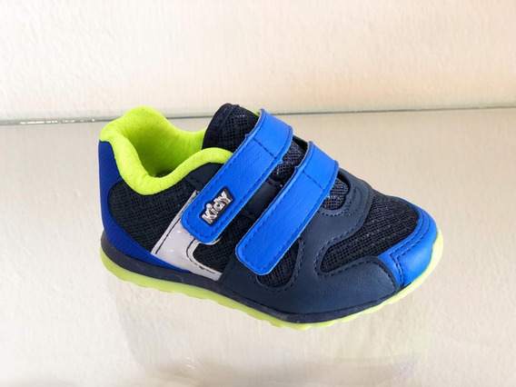 Tênis Infantil Menino Kidy 0960104 Azul Original Promoção