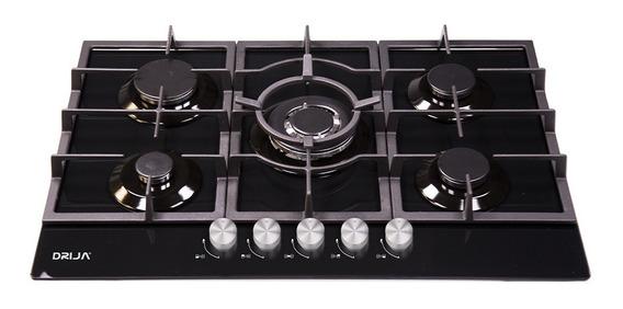 Cocina 5 Hornillas Tope Empotrable A Gas Toscana 90cm Drija